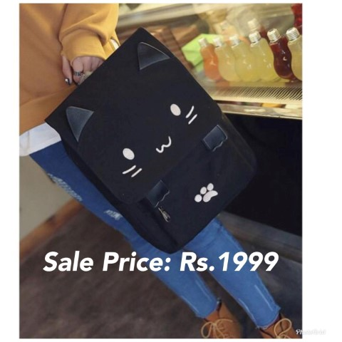 Cat Square Backpack