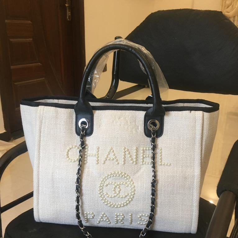 Chanel Deauville Pearl Tote Bag
