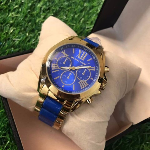 MK Bradshaw Watch Blue Gold