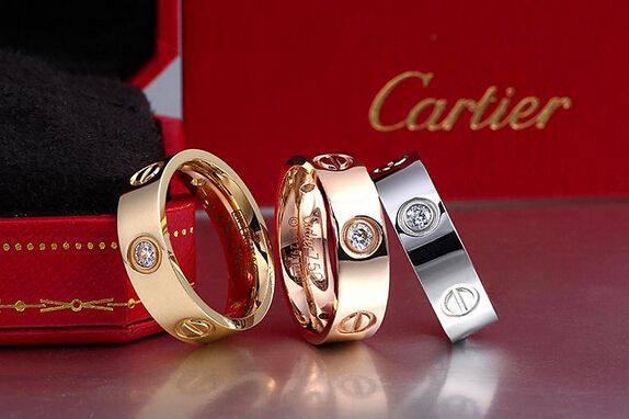 Cartier Love Ring with stone