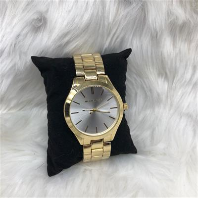 MK Gold White Dial Watch