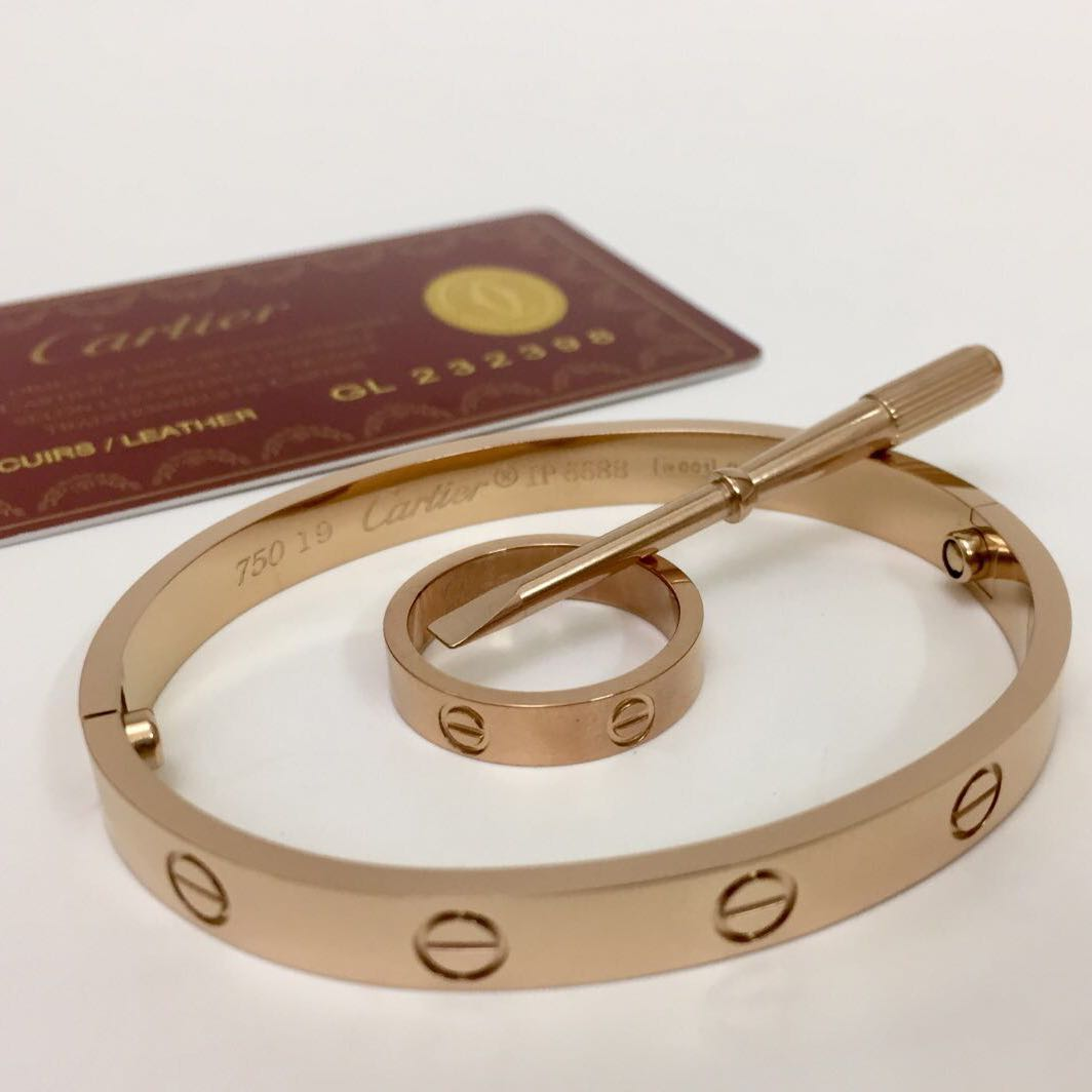 Cartier Bracelet and Ring Rose Gold