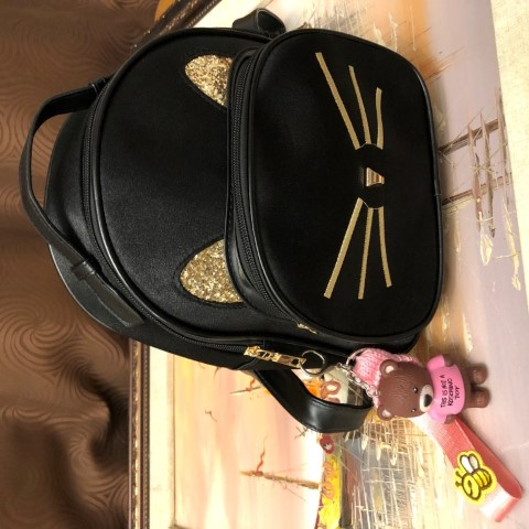 Meow Backpack with Keychain