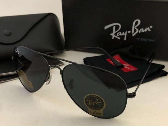 Rayban Aviator with box (Full Black)