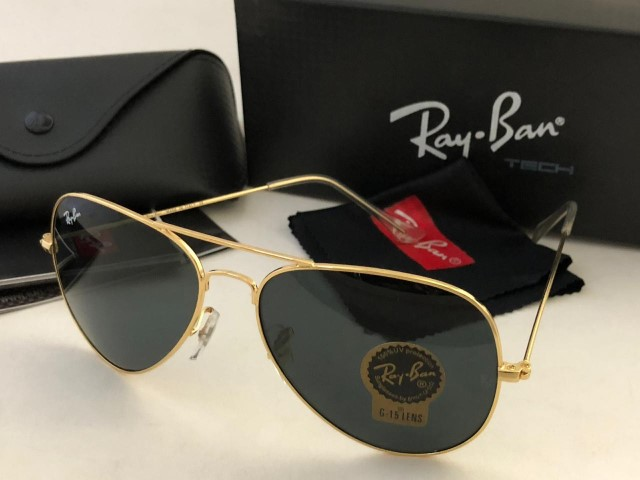 Rayban Aviator with box (Golden Frame)