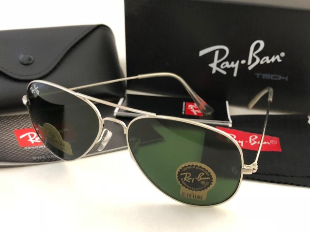 Rayban Aviator with box (Silver Frame)